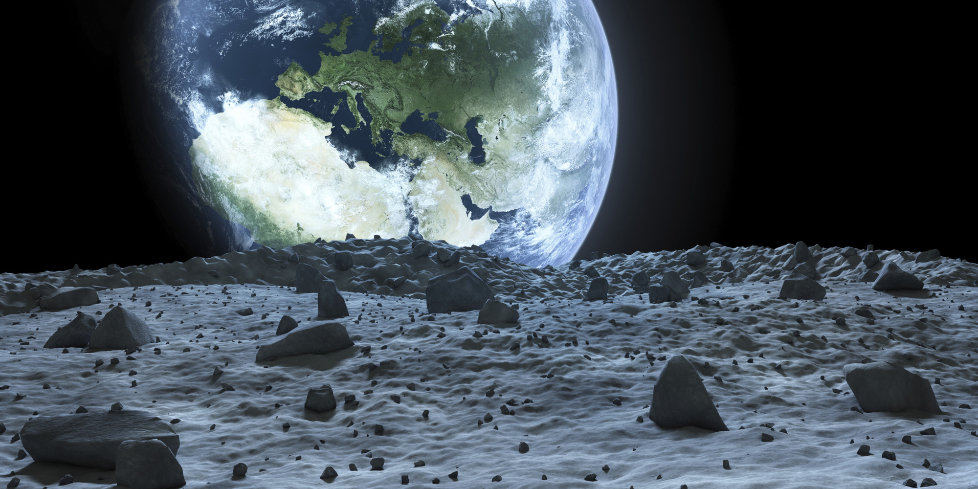 earth from the moon - HD2000×1000